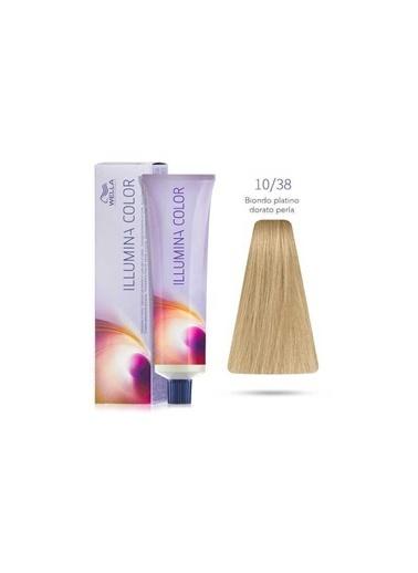Wella Wella illumina 10/38 Saç Boyası Çok Altın inci Kumral 60 ml Renksiz